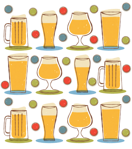 Title: Father's Day Beer Illustrator: Steve Mack  All inquiries for images can be sent to:   Steve Mack  Illustrator  steve@stevemack.com    Lori Nowicki   Painted Words Licensing Agent  lori@painted-words.co