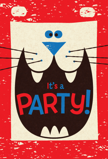 Title: Lion Party Invite Illustrator: Steve Mack  All inquiries for images can be sent to:   Steve Mack  Illustrator  steve@stevemack.com    Lori Nowicki   Painted Words Licensing Agent  lori@painted-words.com