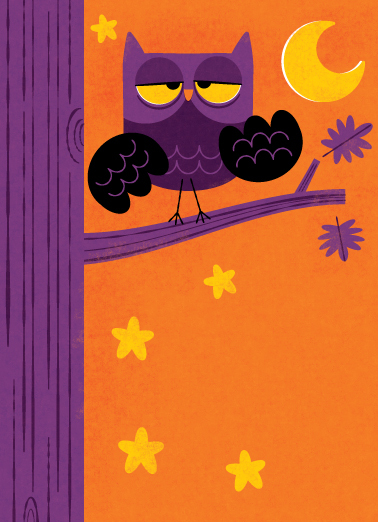 Title: Purple Owl in Tree Illustrator: Steve Mack  All inquiries for images can be sent to:  Steve Mack  Illustrator  steve@stevemack.com   Lori Nowicki  Painted Words Licensing Agent   lori@painted-words.com