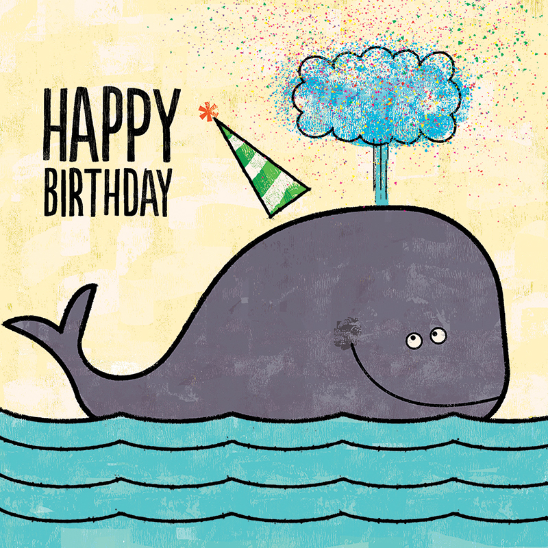 Title: Happy Birthday Confetti Whale Client: Availbe For Purchase or Licensing Illustrator: Steve Mack All inquiries for images can be sent to: Steve Mack Illustrator steve@stevemack.com