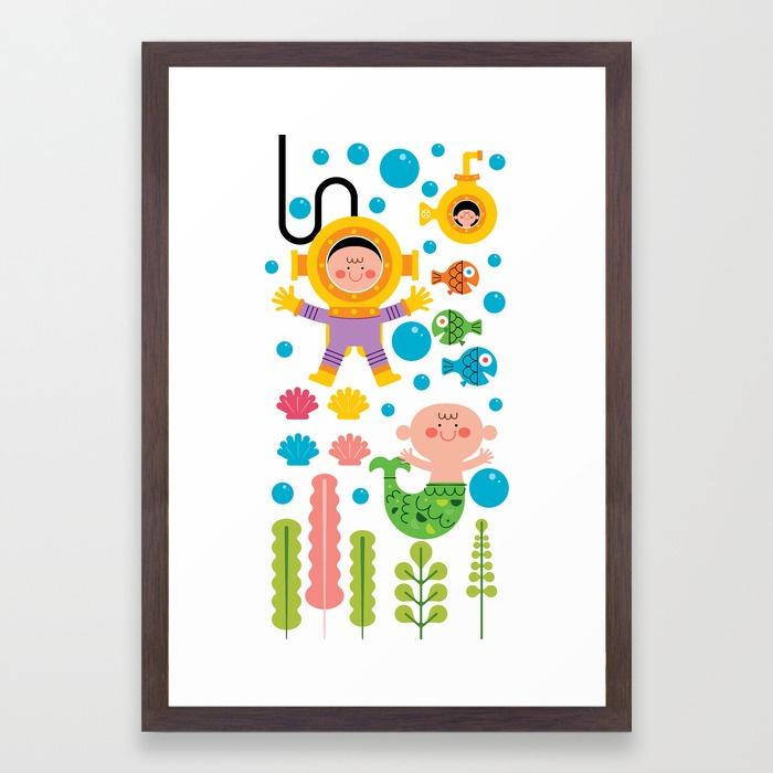 sea-fun-towel-scuba-boy-framed-prints.jpg