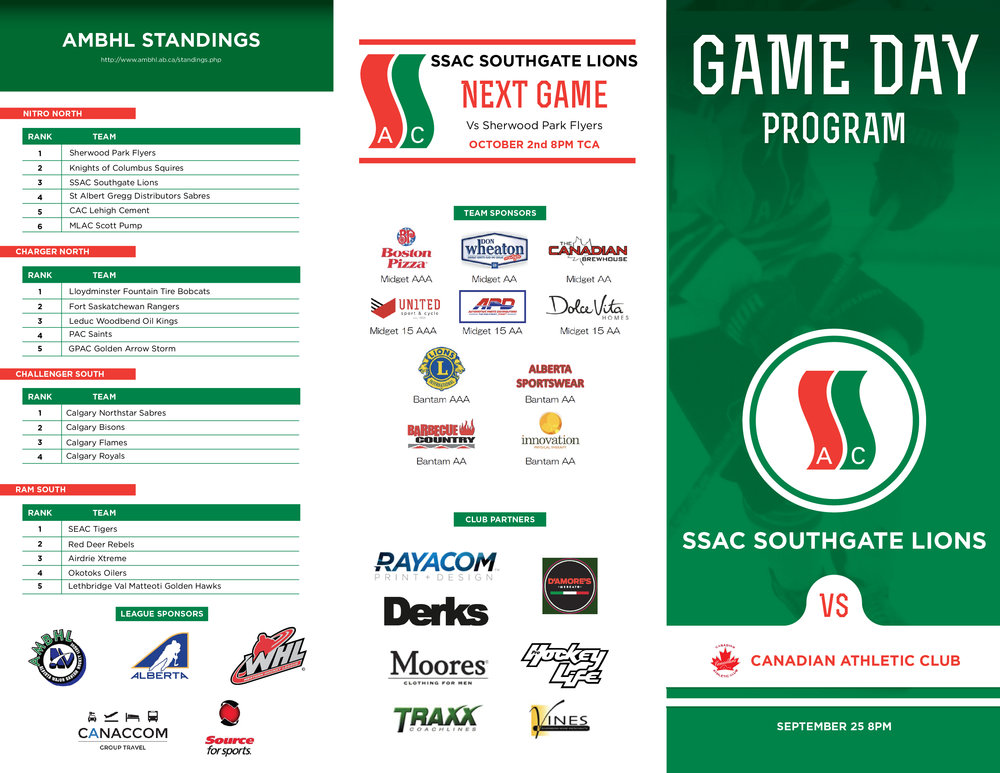 GAME DAY PROGRAM -