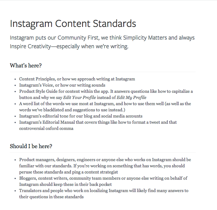 Instagram Content Standards