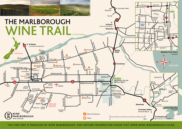 Click to download a pdf version of the Marlborough Wine Trail