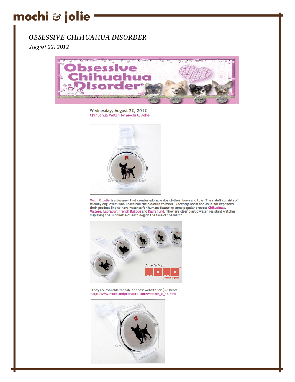 Obsessive Chihuahua Disorder (August 22, 2012)