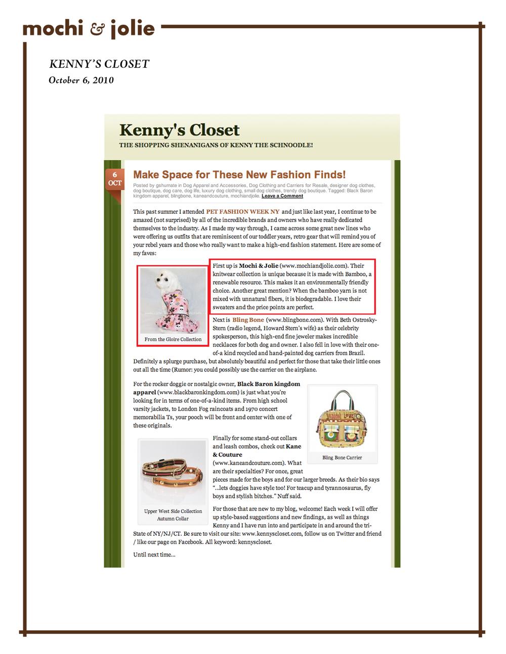 Kenny's Closet (October 6, 2010)