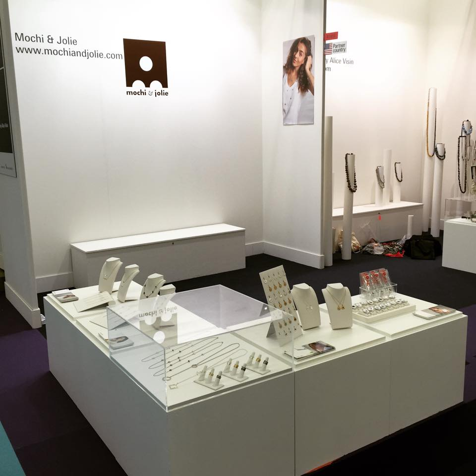 Our clean and modern booth at the show. It perfectly reflects our brand image.