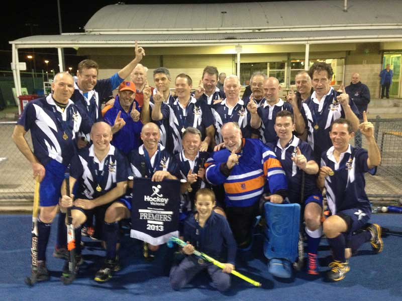 Camberwell Men's Masters 50A Premiers! 28 August 2013 (wearing alternative strip due to colour clash with Southern)
