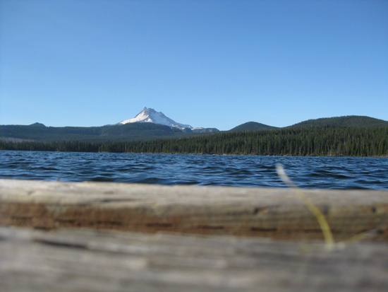 Mt. Jefferson over Olallie Lake