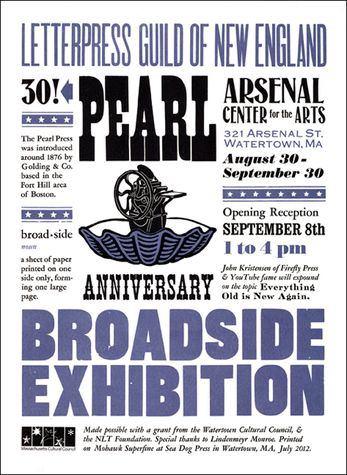 broadside exhibition poster