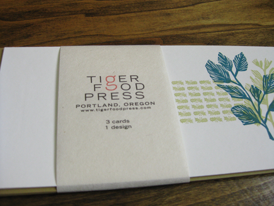 Tiger Food Press letterpress cards