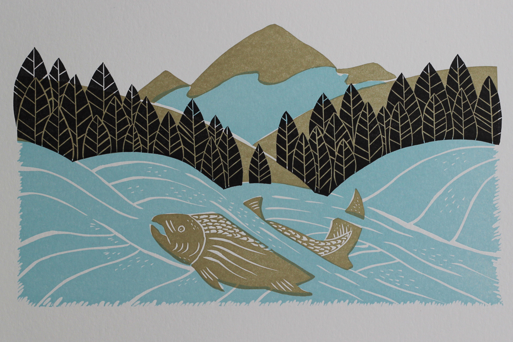 linocut-salmon