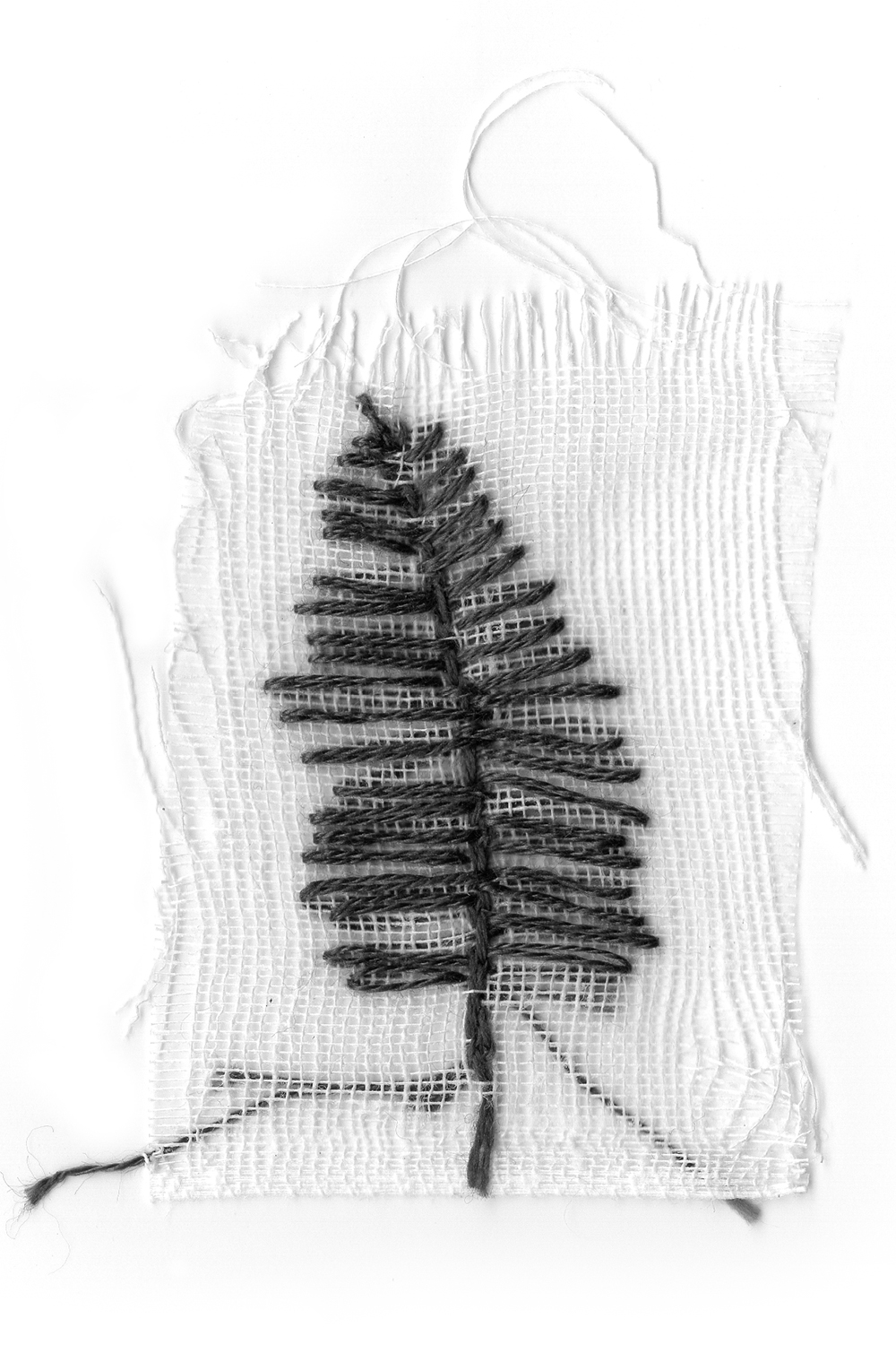 Needlework by artist Anne Greenwood for project printed in collaboration with Tiger Food Press