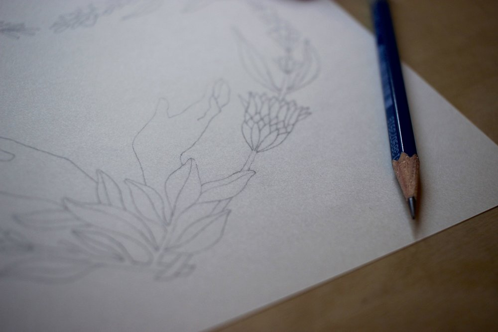 Logo sketch in progress