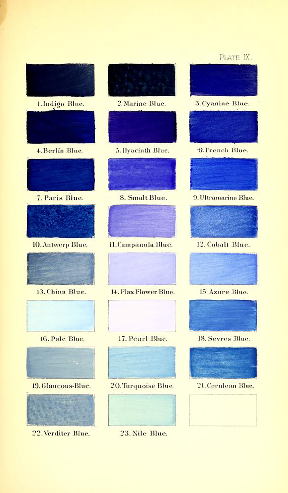 Ridgway color dictionary page - blues