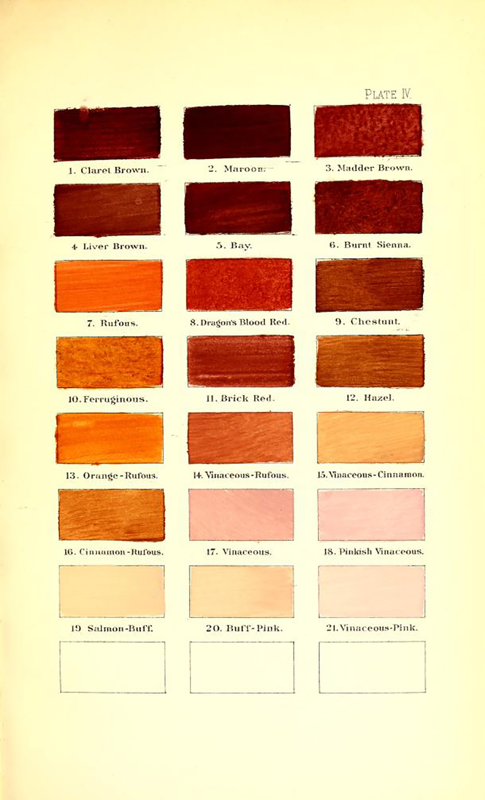 Ridgway color dictionary - reds