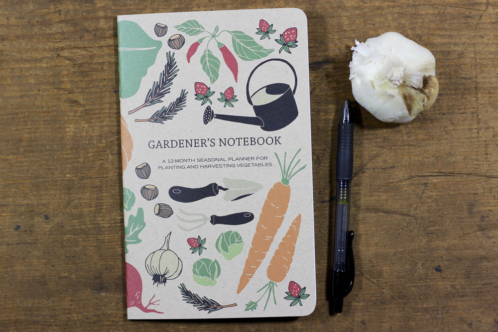 The Gardener's Notebook with a brand new cover