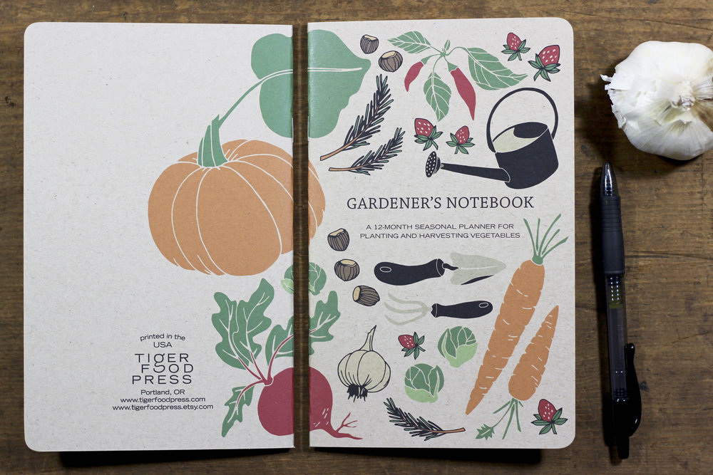 Gardener's Notebook front and back