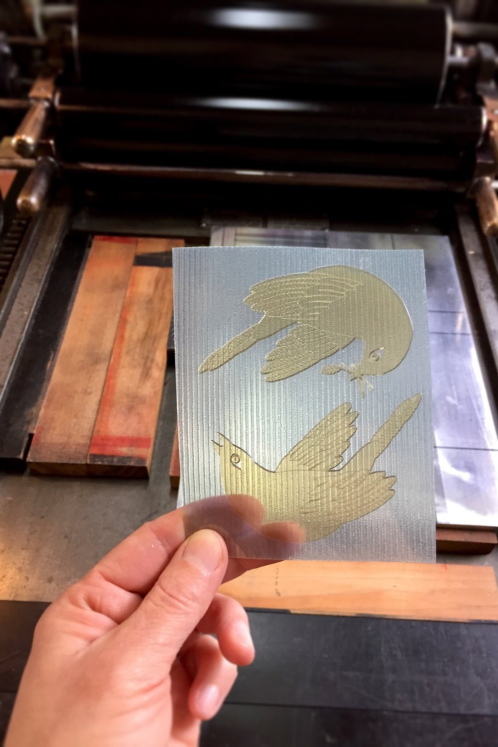 Letterpress photopolymer plate at Tiger Food Press