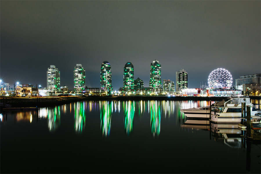 False Creek residents displaying green lights in their windows to raise issue of the city of Vancouver to deliver on a long-promised urban park.