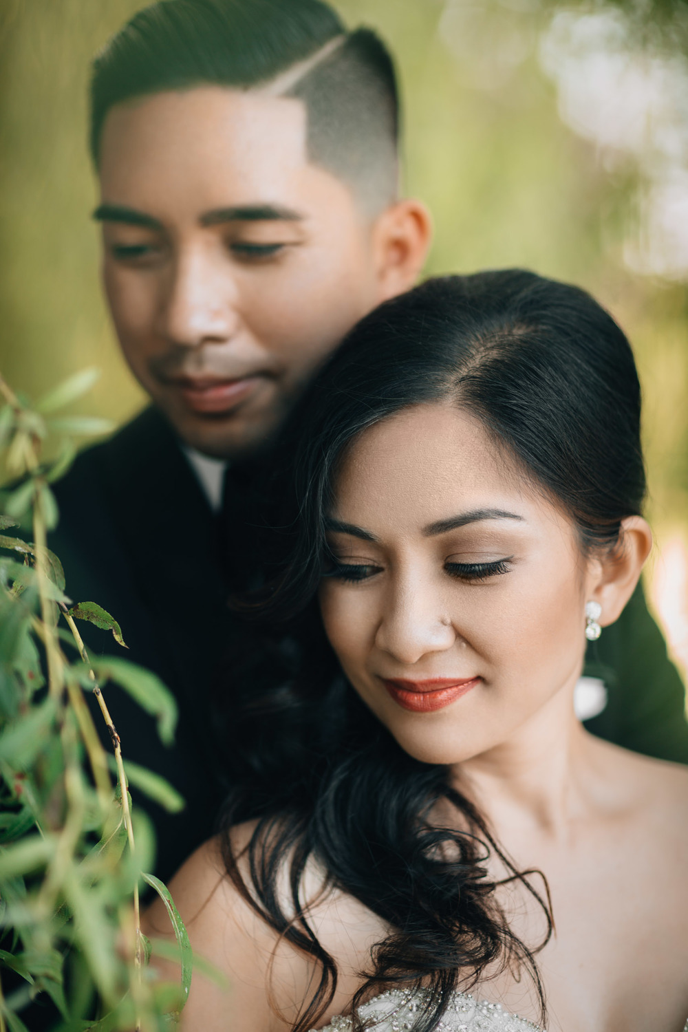 filipino wedding bride groom portraits closeup terra nova richmond