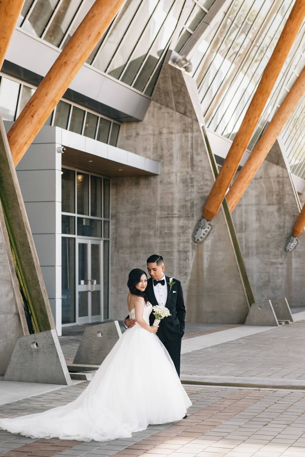 olympic oval wedding photographer richmond bride groom