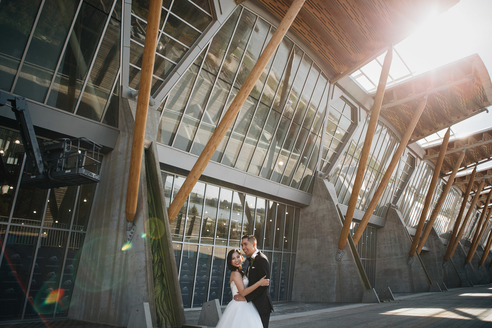 richmond olympic oval filipino wedding photographers bride groom negative space vsco