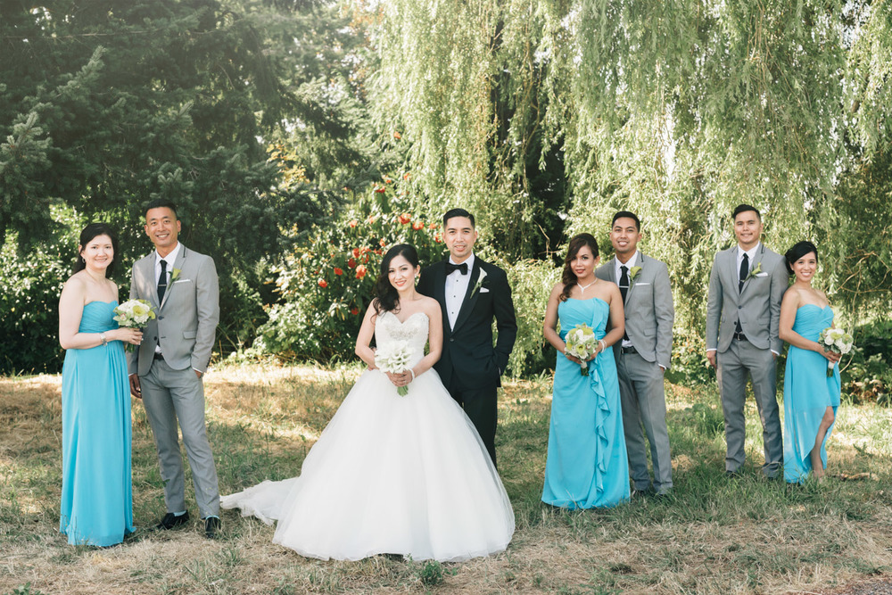 richmond terra nova wedding phtoographer filipino bridal party