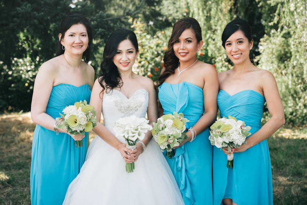 terra nova richmond wedding photography bride bridesmaids filipino