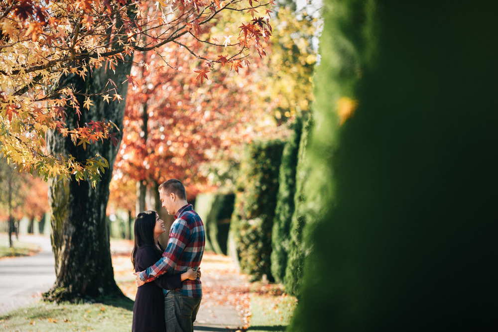 autumn engagement photography ubc vancouver portrait