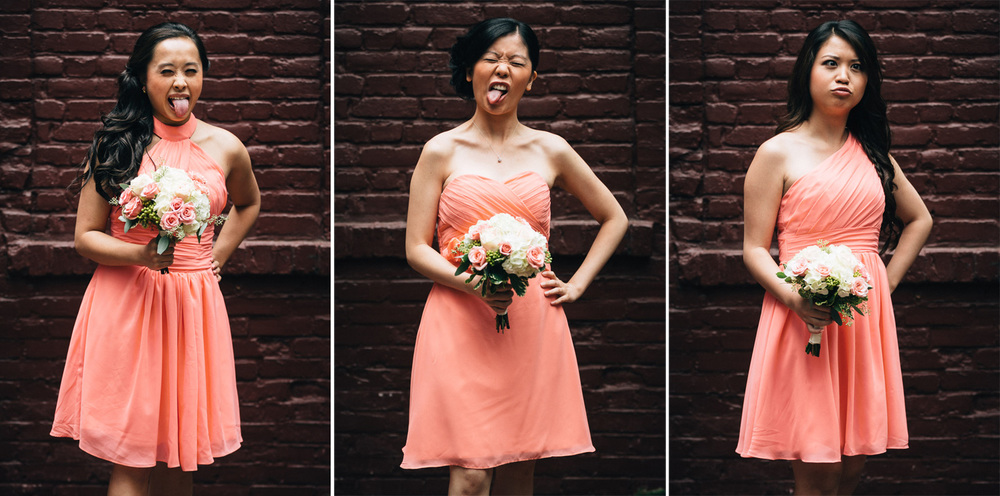 bridesmaids gastown vancouver wedding photography
