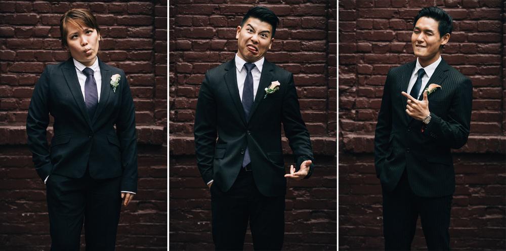 groomsmen gastown vancouver wedding photographer