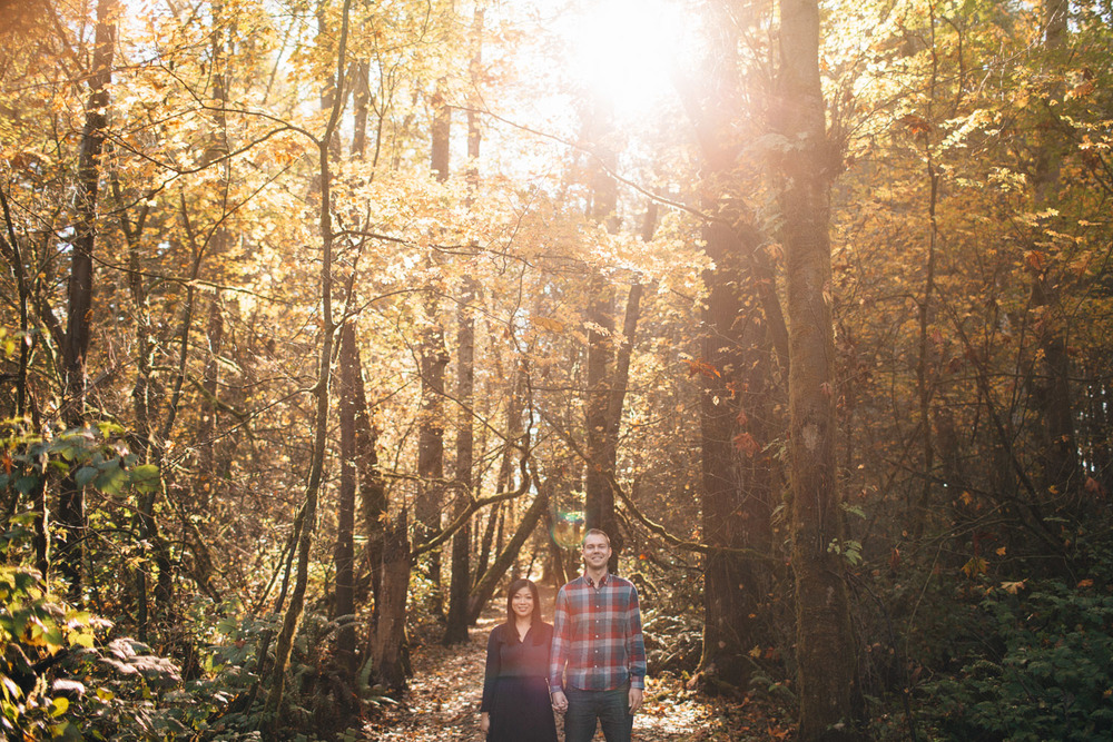 pacific regional spirit park vancouver fall engagement photography