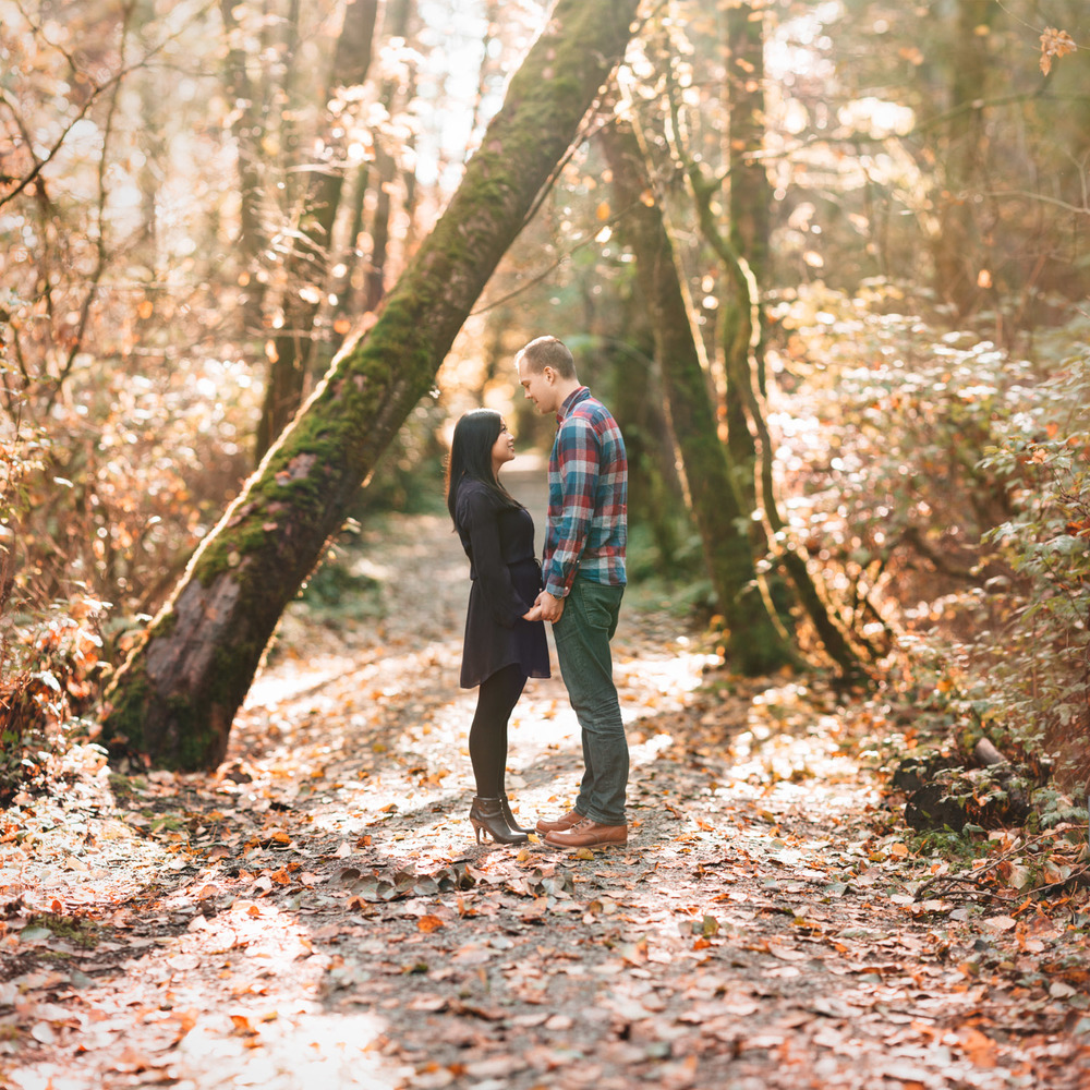autumn engagement photography vancouver ubc