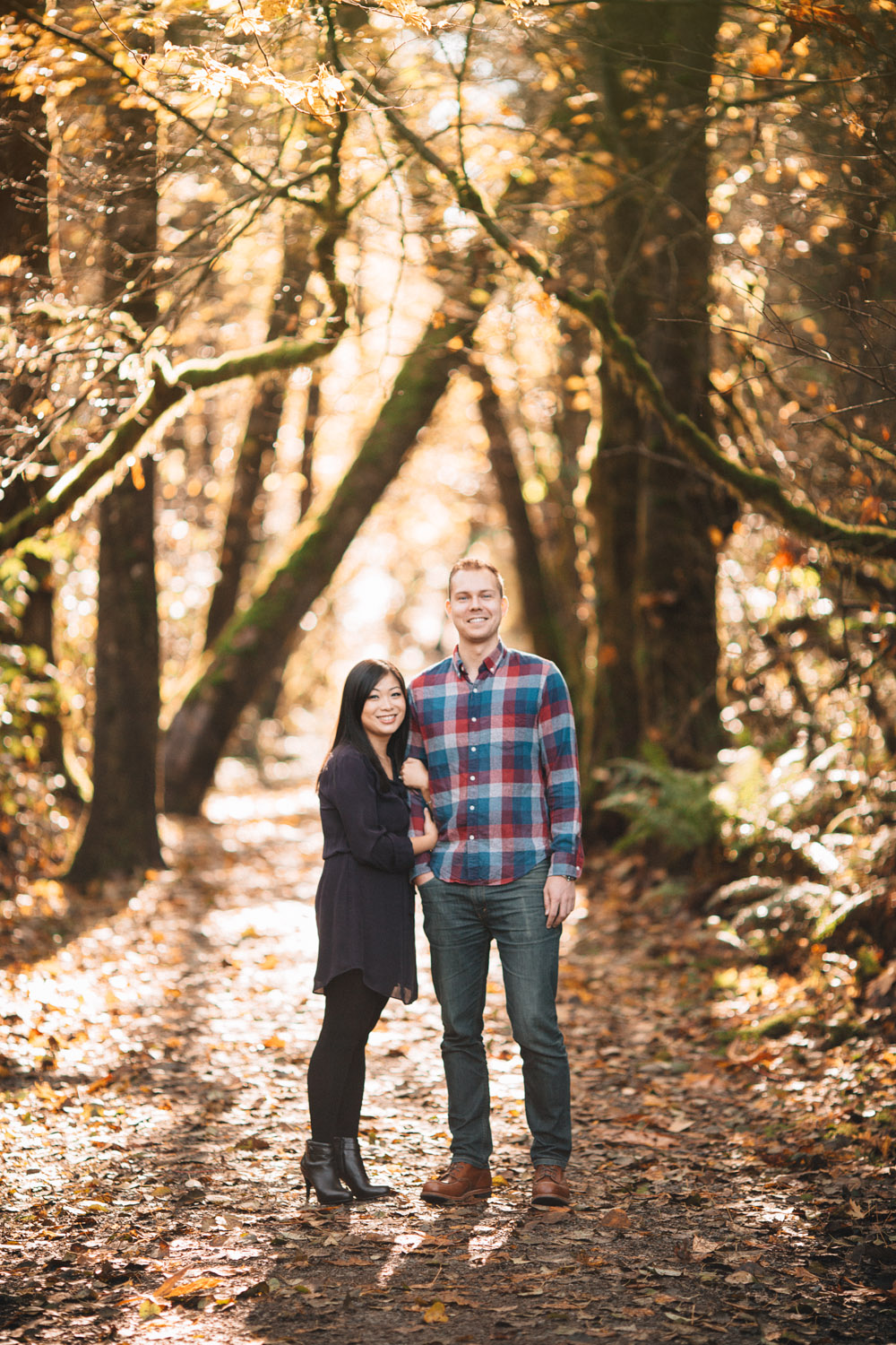 vancouver fall engagement photography ubc