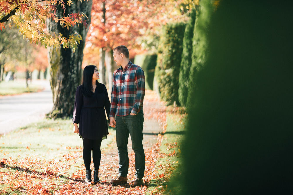 vancouver engagement photography at ubc during fall