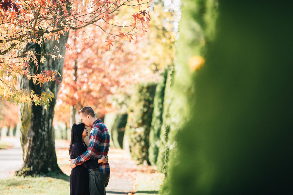 fall engagement photography vancouver ubc