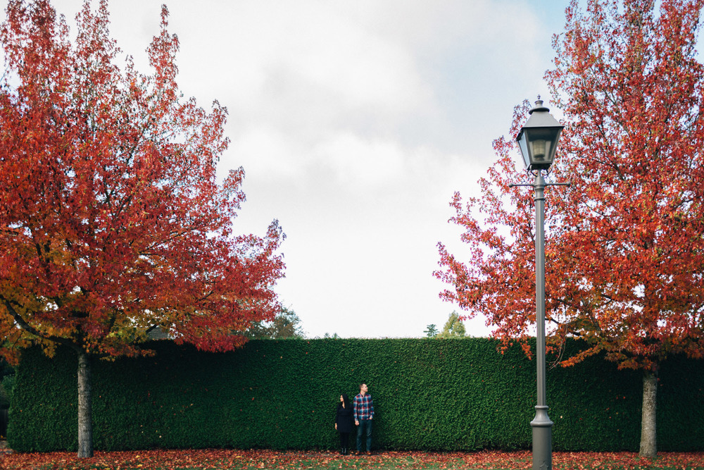 fall engagement photography ubc vancouver