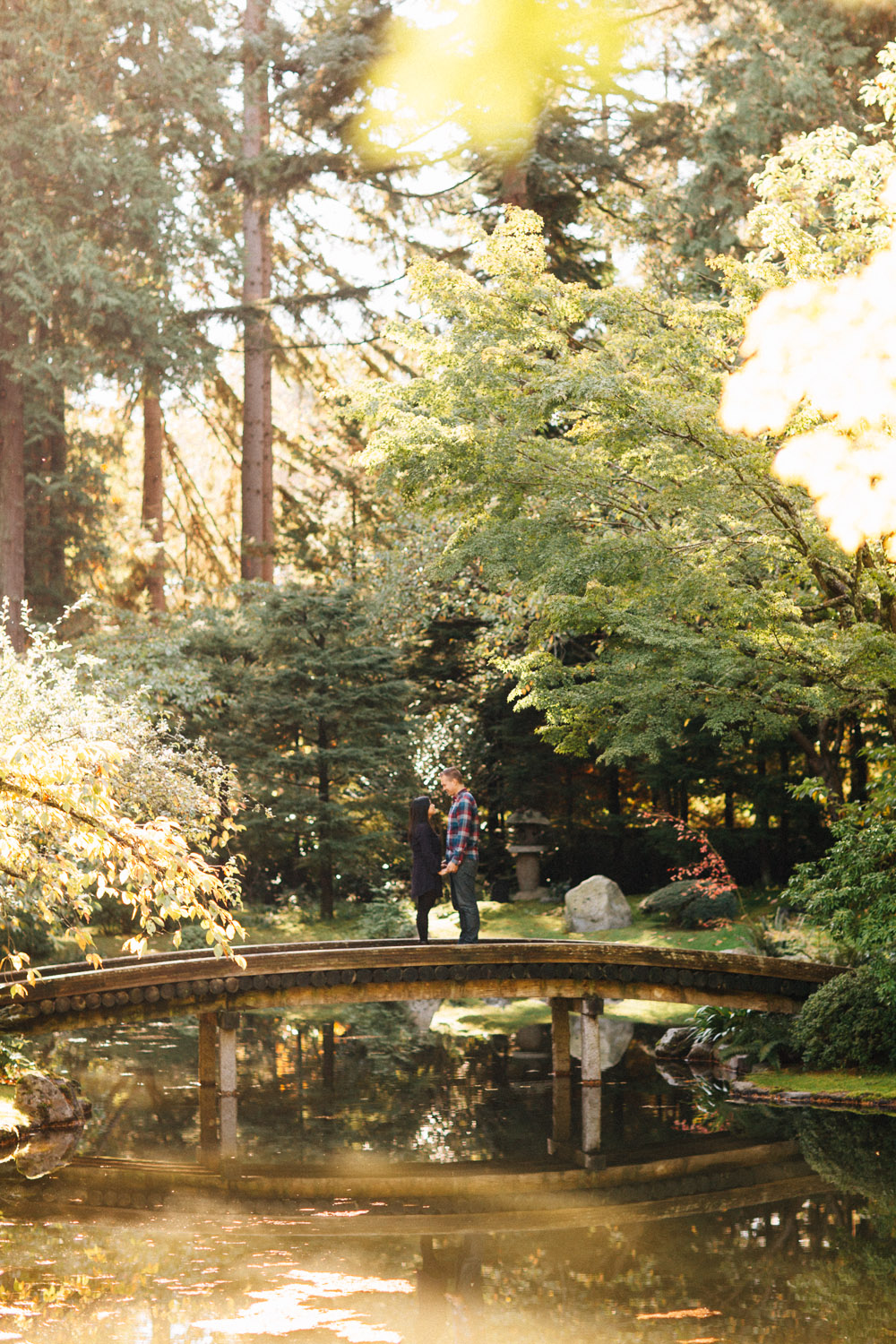 vancouver fall engagement photography nitobe botanical memorial garden
