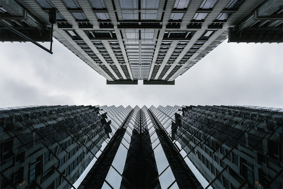 Hong Kong architecture photography looking up