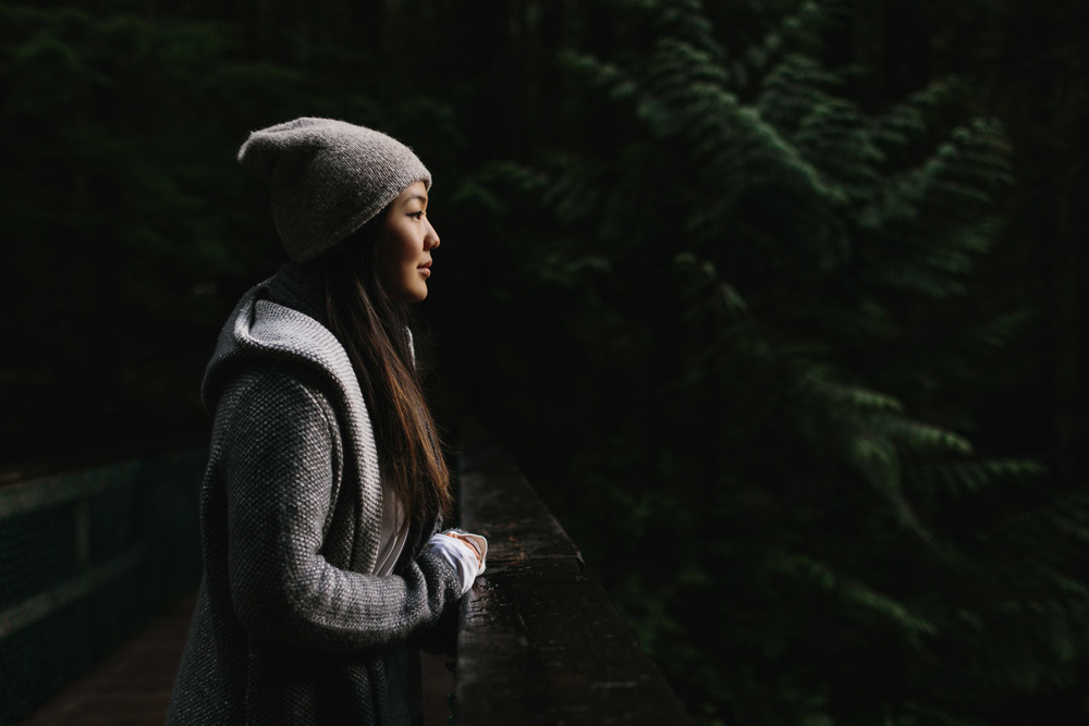 vancouver portrait photography at lynn canyon park with Sarah Lee