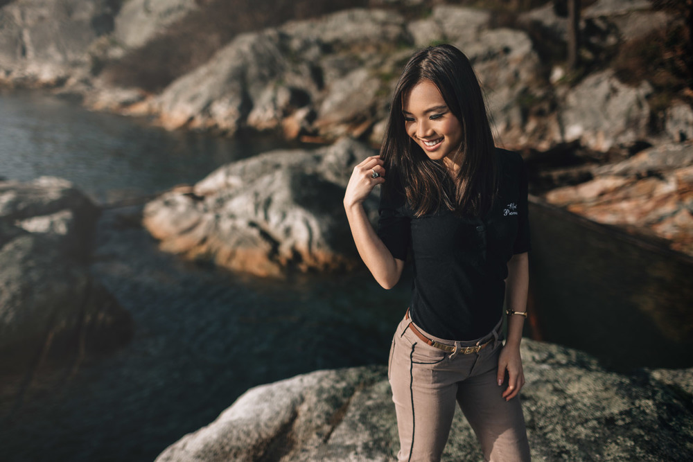vancouver portrait photographer at lighthouse park with lily ling