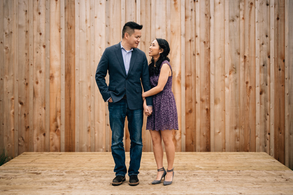 richmond engagement photography at britannia shipyard in BC