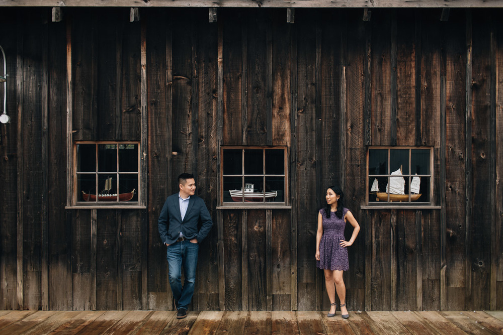 richmond engagement photography at britannia heritage shipyard near steveston