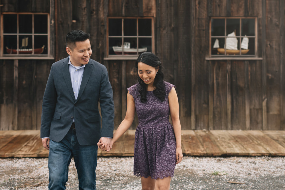 richmond engagement photography at britannia heritage shipyard
