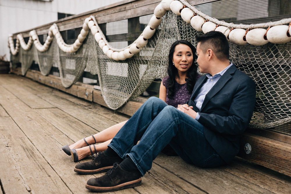 asian engagement couple richmond bc britannia heritage shipyard photography