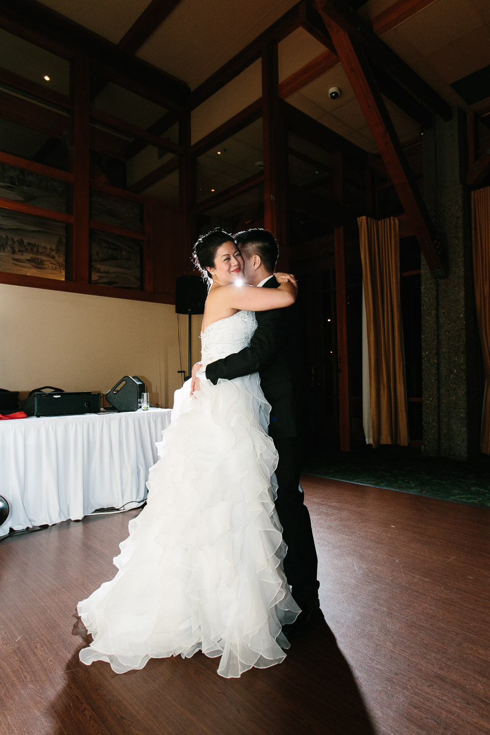 first dance coquitlam wedding photography at westwood plateau golf club reception