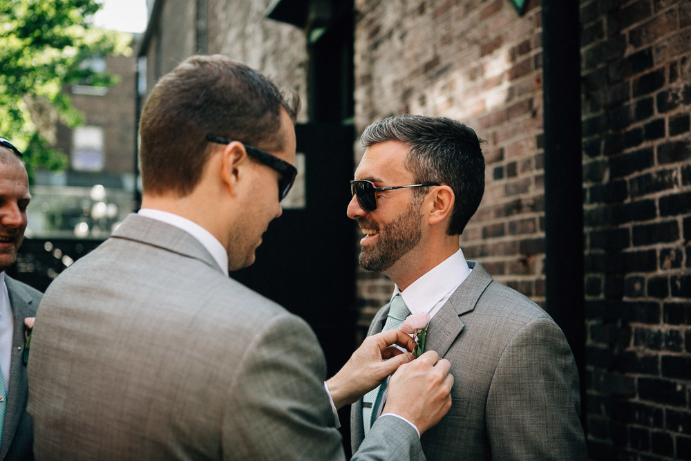 gastown groomsman vancouver wedding photography