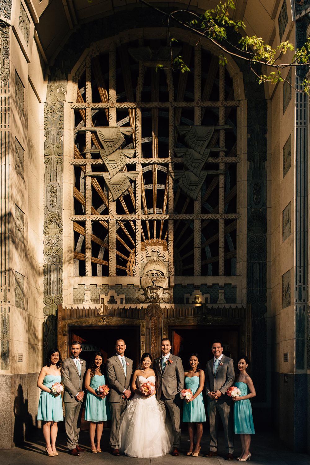 bridal party photography marine building coal harbour vancouver wedding