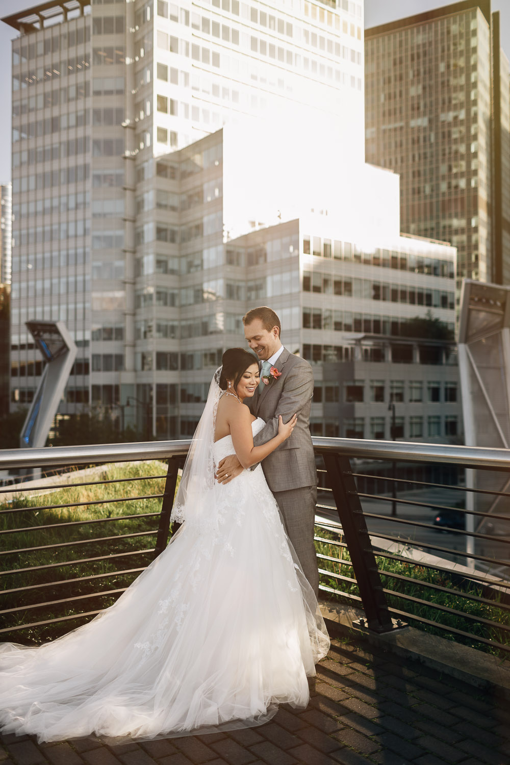 cactus club rooftop coal harbour vancouver wedding photographer